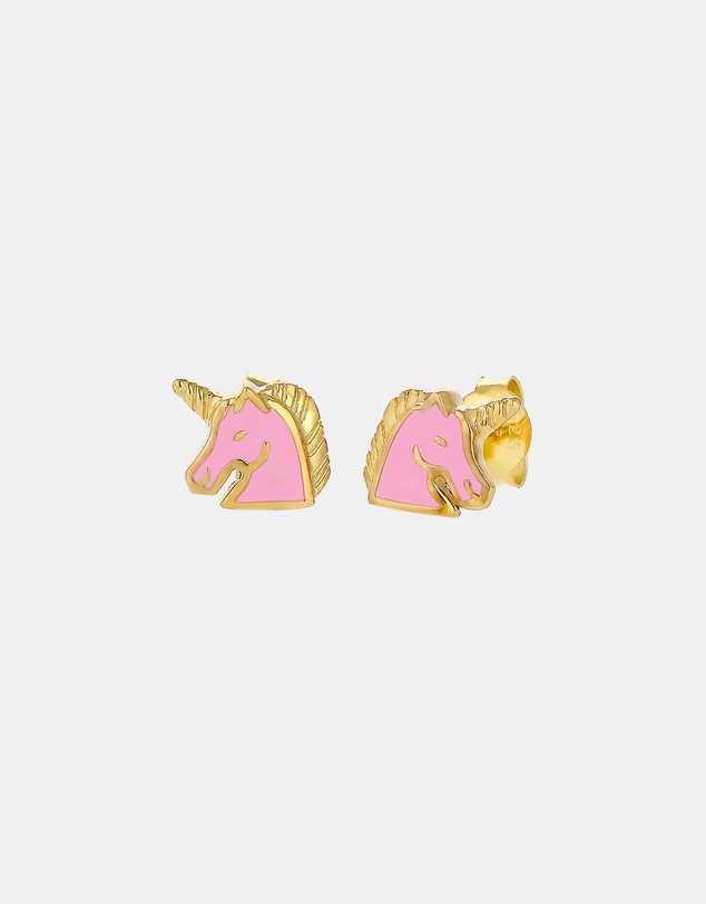 Elli Jewelry - Earrings Kids Unicorn Enamel 925 Sterling Silver