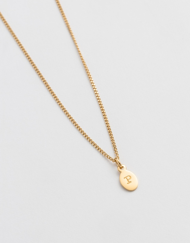 Women Initial P Necklace