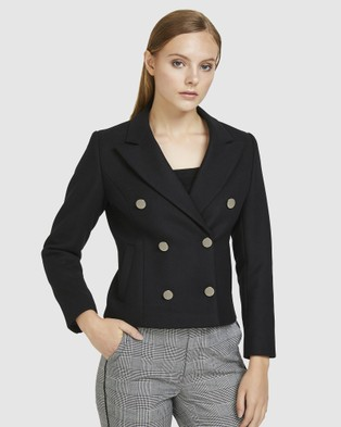 ARIS Convertible Wool Coat - Coats & Jackets (Black)