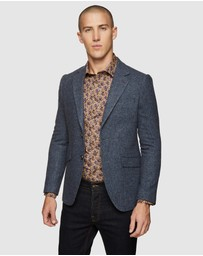 Oxford - Blake Wool Blend Herringbone Blazer