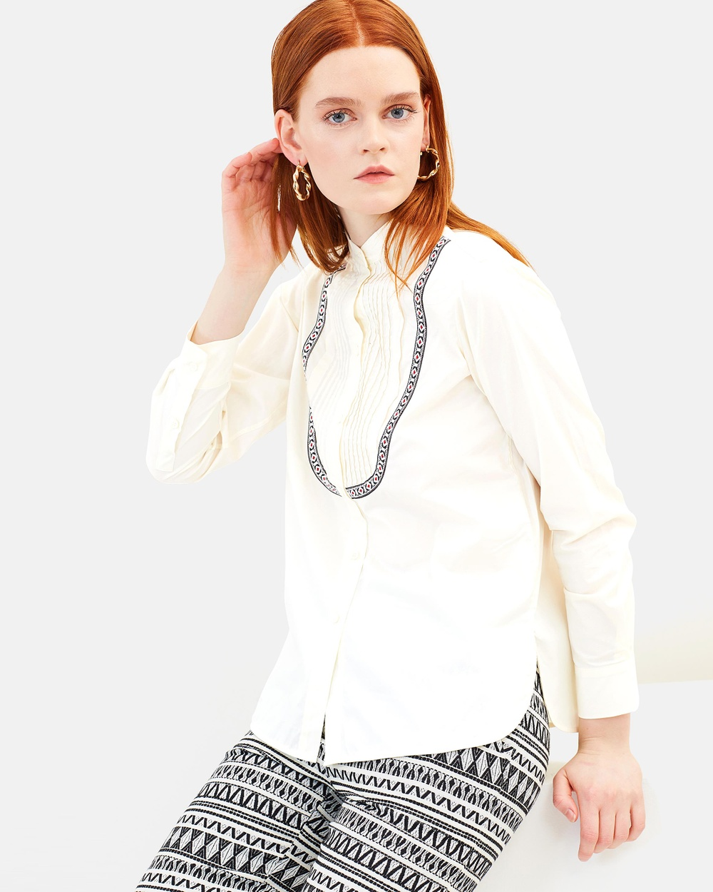 MAX & Co. Calla Blouse Tops Ivory Calla Blouse