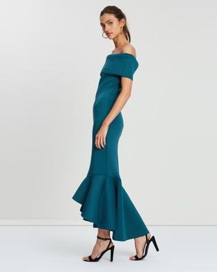Loreta Avenue Scuba Dress - Bridesmaid Dresses (Green)