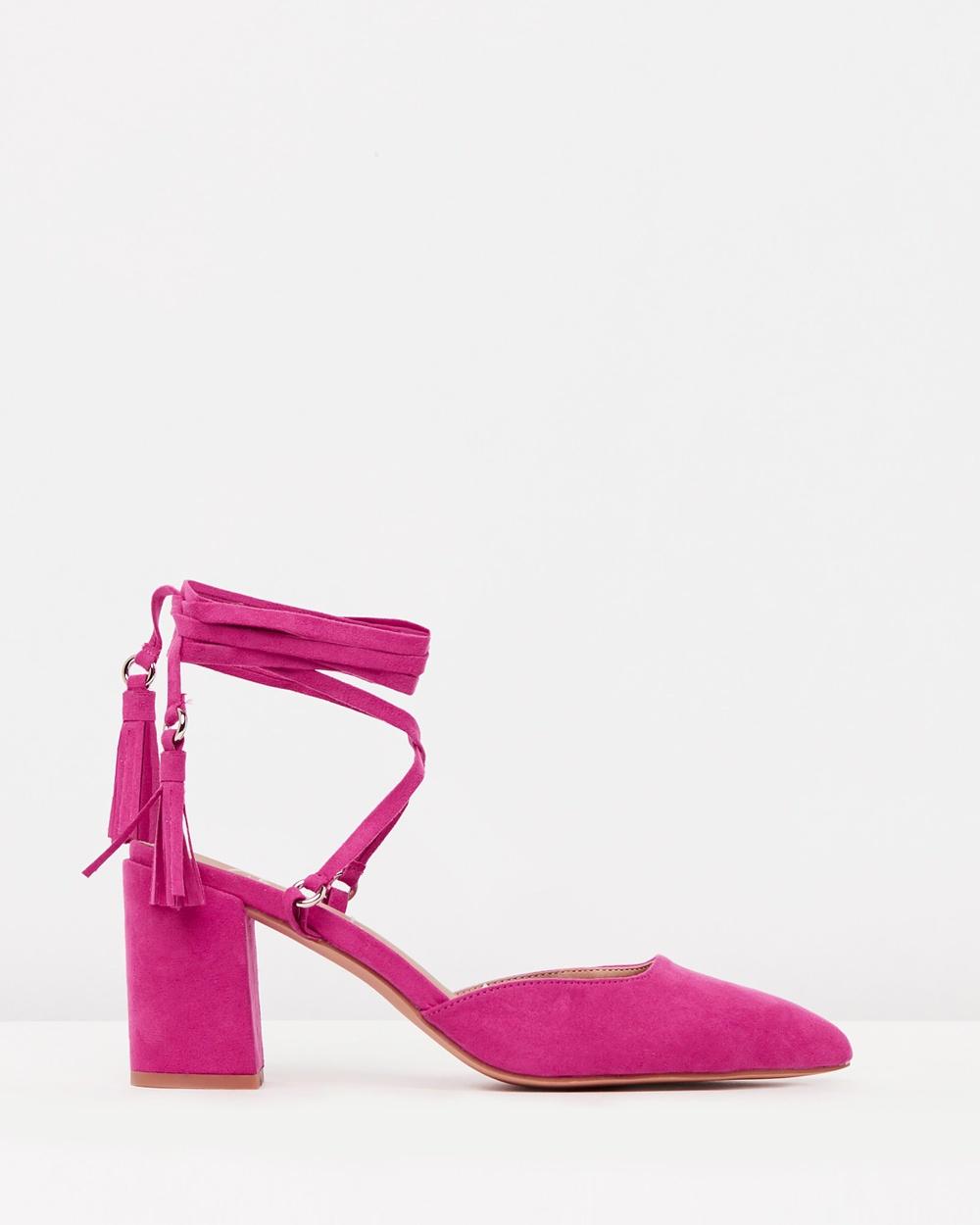 SPURR ICONIC EXCLUSIVE Lillian Pumps All Pumps Pink Microsuede ICONIC EXCLUSIVE Lillian Pumps