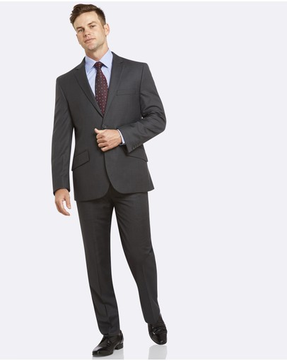 Kelly Country - PGH Pure Wool Two-Trouser Fine Stripe Grey Suit