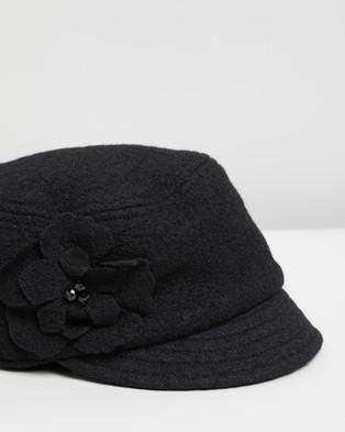 Max Alexander Fleecy Newsboy Hat Cap - Headwear (Black)