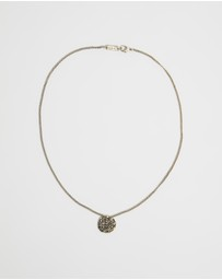Icon Brand - Embossed Symbol Burnished Necklace