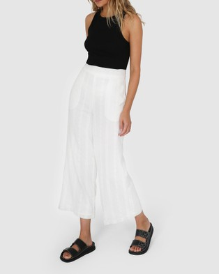 Lost in Lunar  Margot Pants - Pants (White)
