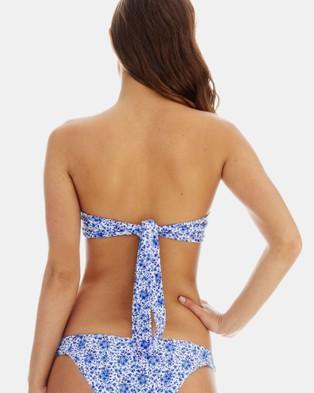 RH Swimwear - Knot Bandeau Bikini Top - Bikini Tops (Ditsy floral blue) Knot Bandeau Bikini Top