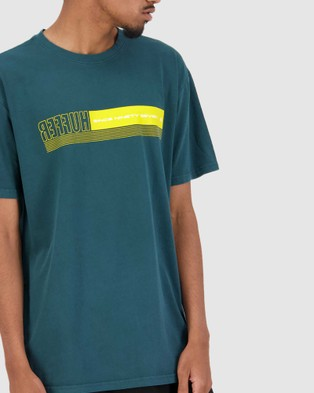 Huffer - Men's Sup Tee Sidestage - T-Shirts & Singlets (Green) Men's Sup Tee-Sidestage