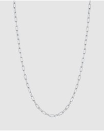 Kuzzoi - Necklace Link Chain Oval Basic Fine in 925 Sterling Silver