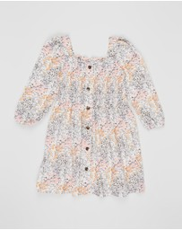 Cotton On Kids - Kip & Co Lindsay Long Sleeve Dress - Kids-Teens