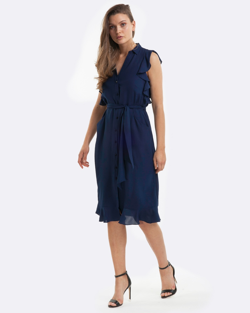 Amelius Femme Shirt Dress Dresses Navy Femme Shirt Dress