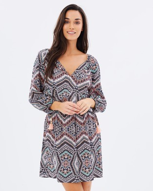Buy Seafolly - Indian Summer Dress Black Multi -  shop Seafolly dresses online