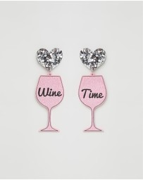 HAUS OF DIZZY - Wine Time Earrings