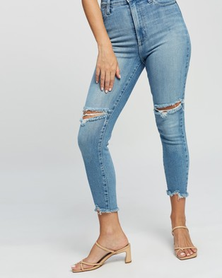 Nobody Denim Petite Petite Siren Skinny Ankle Jeans - High-Waisted (Surf)