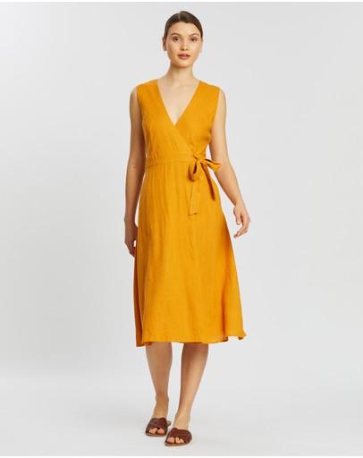 Staple The Label Golden Hour Wrap Dress Mango