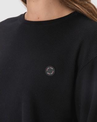 Cools Club - Badge Waffle Tee - T-Shirts & Singlets (Black) Badge Waffle Tee