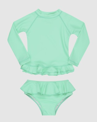 Infamous Swim Mini Me Annie Rashie Set UPF50+ - Bikini Set (Mint)