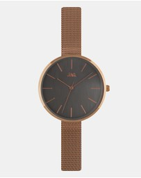Jag - Julia Grey Dial  IP Rose Gold Mesh 36mm