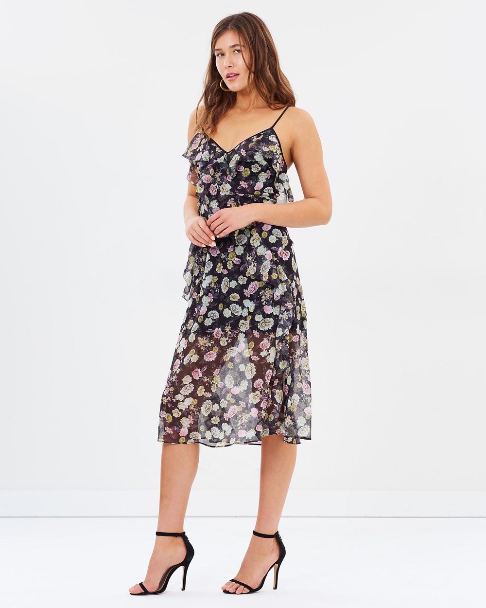 Talulah Playful Flounce Midi Dress Printed Dresses Print Playful Flounce Midi Dress
