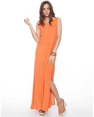 KissinCussin – Edie Tank Maxi – Dresses (Rusty Orange )