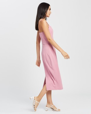 Romance by Honey and Beau Lucky Midi Dress - Bridesmaid Dresses (Pink)