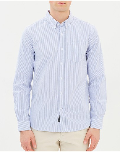 Staple Superior - Staple Stripe LS Oxford Shirt