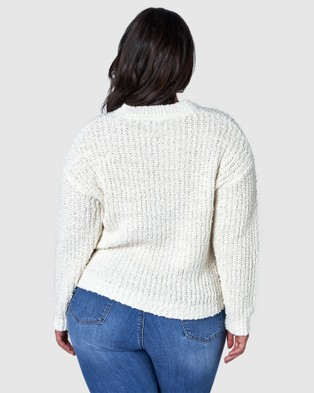 Sunday In The City Perfect Illusion Knit - Jumpers & Cardigans (WHITE)