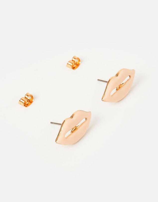 Women Kiss Stud Earrings
