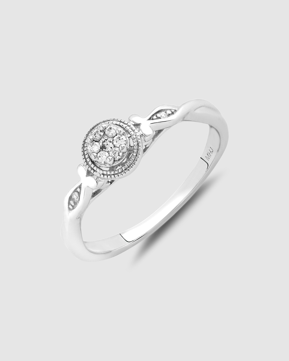 Michael Hill Promise Ring with Diamonds in Sterling Silver Jewellery Silver