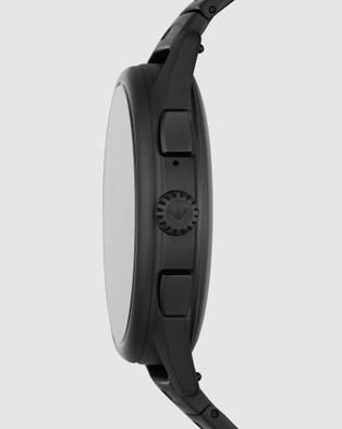 Emporio Armani Black Smartwatch - Smart Watches (Black)