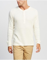 RRL - Henley Long Sleeve Knit