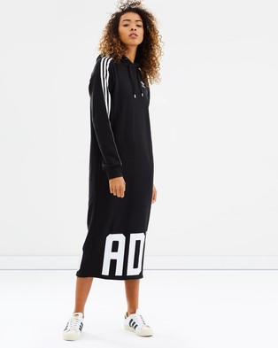 adidas Originals – Bold Age Hoodie Dress – Printed Dresses Black