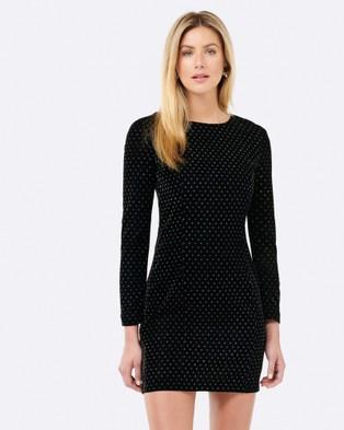 Forever New – Tanya Spot Dress – Bridesmaid Dresses Black