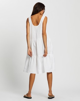 Assembly Label Tiered Linen Dress - Dresses (White)