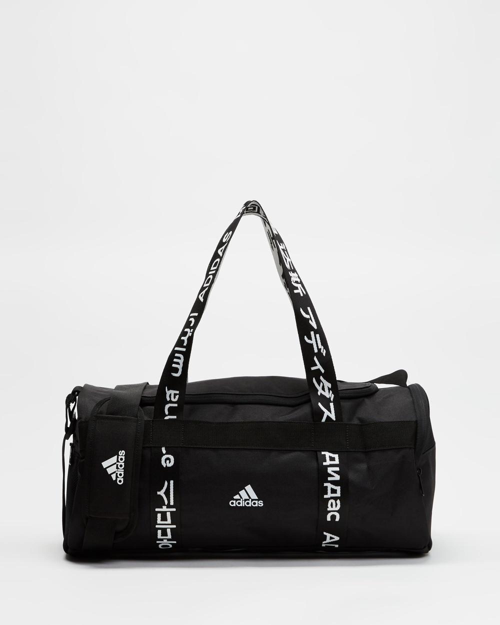 adidas Performance 4ATHLTS Small Duffle Bag Bags Black & White