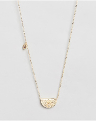 By Charlotte February Awaken Your Senses Gold Pendant Necklace