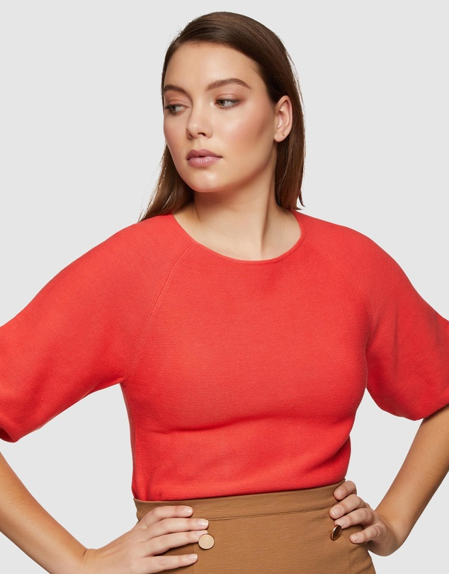 Oxford - Ally Bubble Sleeve Knit