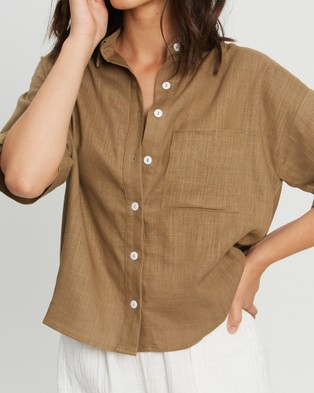The Fated Something About You Shirt - Tops (Khaki)