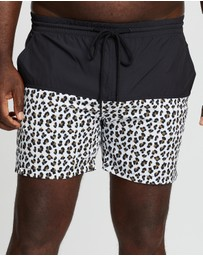Staple Superior Big & Tall - Plus Animal Print Swim Shorts