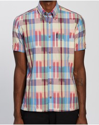 Ben Sherman - SS Ikat Check Shirt