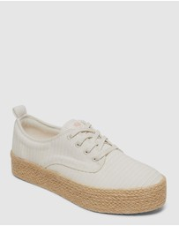 Roxy - Womens Shaka Jute Flatform Shoes
