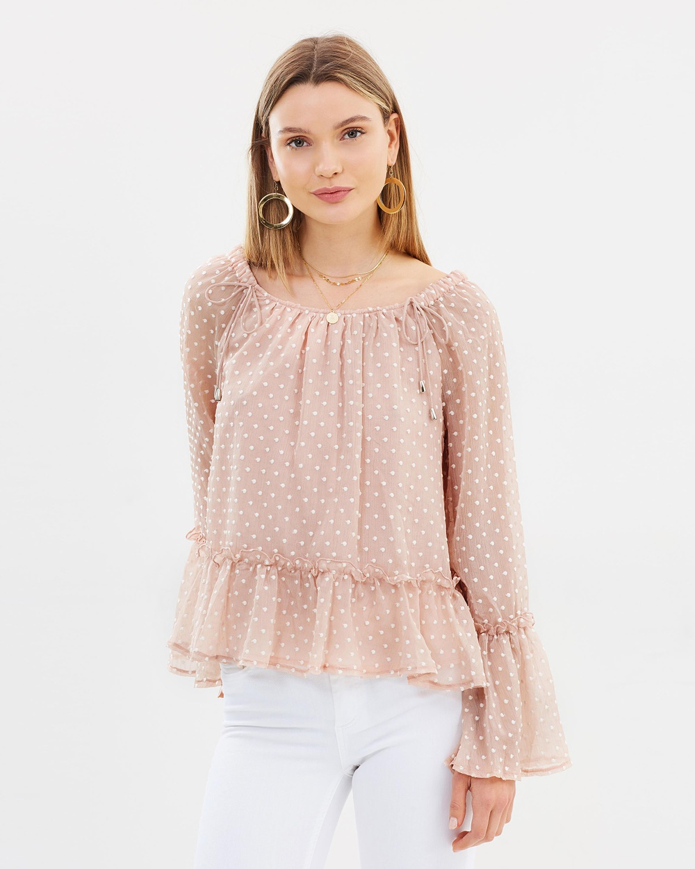 Ministry of Style Eloise Long Sleeve Top Tops Powder Pink Eloise Long Sleeve Top