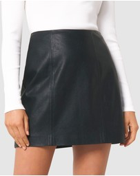 Forever New - Peyton Seamed PU Mini Skirt