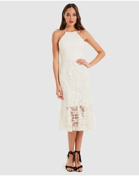 Cooper St - Glimmer High Neck Lace Dress