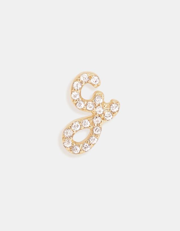 Women 14K Gold Diamond Love Letter G Single Earring
