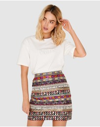 Apero Label - Mirror Embroidered Mini Skirt