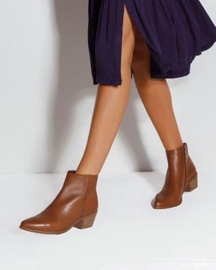 Sandler Vera - Ankle Boots (MID BROWN)