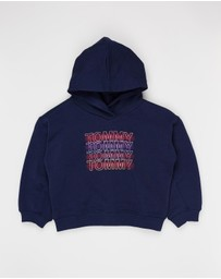 Tommy Hilfiger - Wide Sleeve Graphic Hoodie - Kids