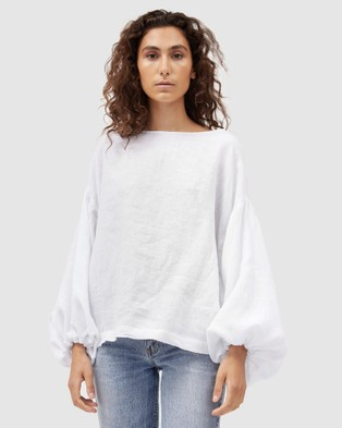 Dominique Healy - Bella Blouse Tops (White)